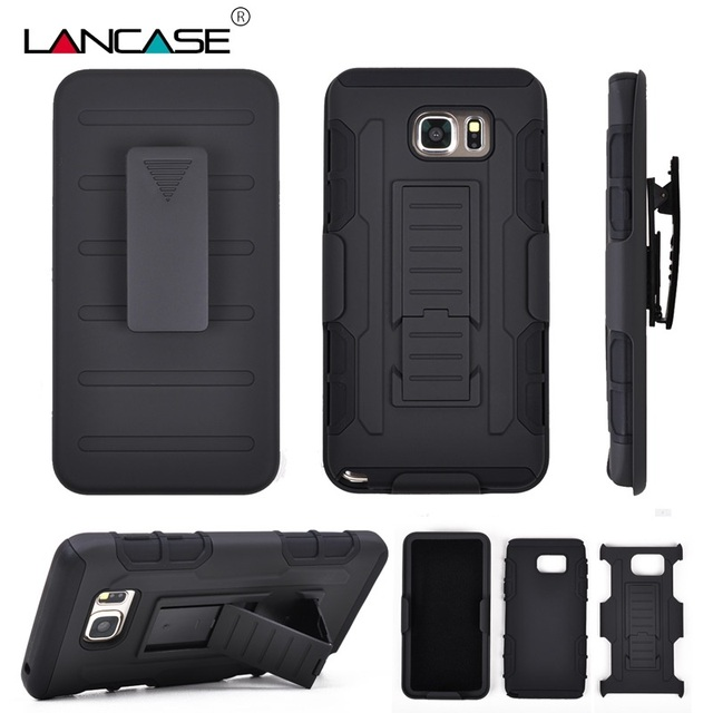 newest 7eec5 765c9 US $6.92 |For Samsung Galaxy Note 5 Case Military 3 in 1 Combo Silicone  Case For Samsung Galaxy Note 7/4/3/2 Stand Belt Clip Phone Cover on ...