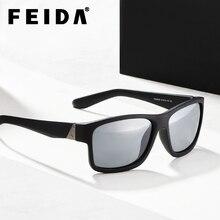 64fb92d28b FEIDA 2018 sol polarizadas hombres Oversized alta calidad gafas de sol con  el embalaje UV400 oculos de sol feminino YX0371