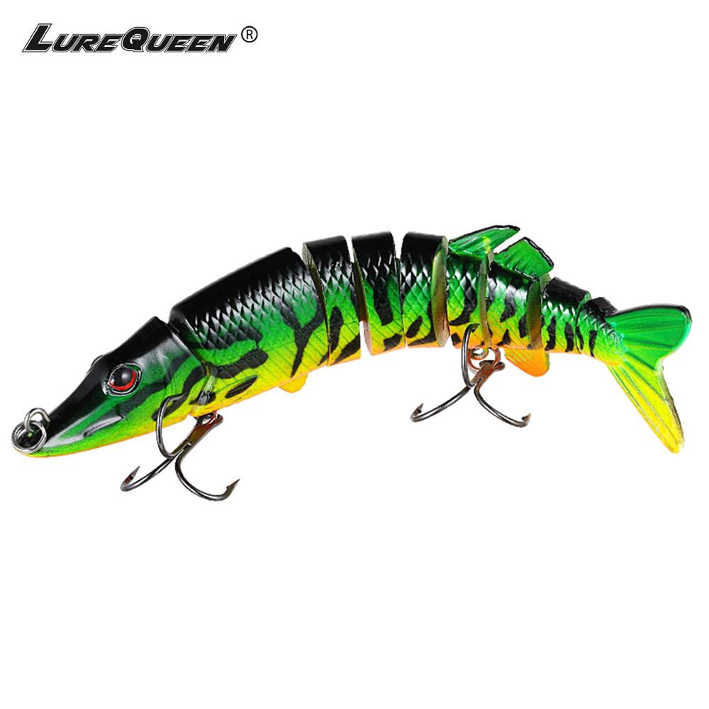 Pike Fishing Lure 9cm~30cm Multi Jointed Bait Lures Bass Swimbait Hard Bait Fishing Tackle Wobblers Crankbait Pesca(China)