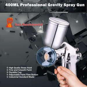 Image 2 - 400ML Spray Gun Professional Pneumatic Airbrush Sprayer Alloy Painting Atomizer Tool With Hopper For Painting Cars by PROSTORMER