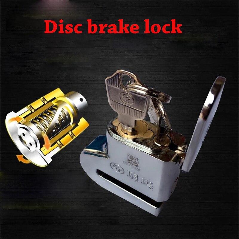 Motorcycle Disc Brake Lock Scooter Anti-theft Bicycle Bike Security Lock Security Alarming Waterproof System Disc Brake Lock