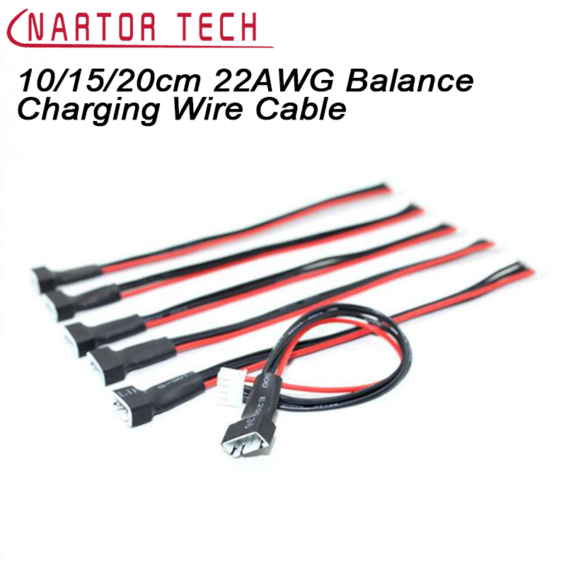 10pcs/lot 10/15/20cm 22AWG Li-Po Battery Balance Charging Extension Wire Cable Cord 2S 3S 4S 5S 6S For RC Lipo Battery