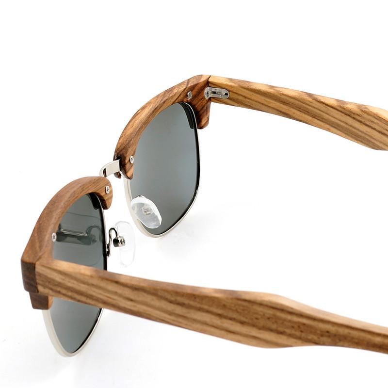 Handmade Original Wood Zebra-stripe Design Luxury Sunglasses