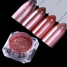 1 Box Rose Gold Spiegel Wirkung Nagel Glitter Shinning Chrom Pigment Pulver DIY Nagel Pulver Wirkung Nail art Dekorationen