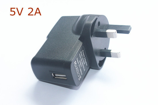 New Output 5V DC 2A USB UK Plug Converter Charger Power Supply Adapter for Tablet PC  free shipping
