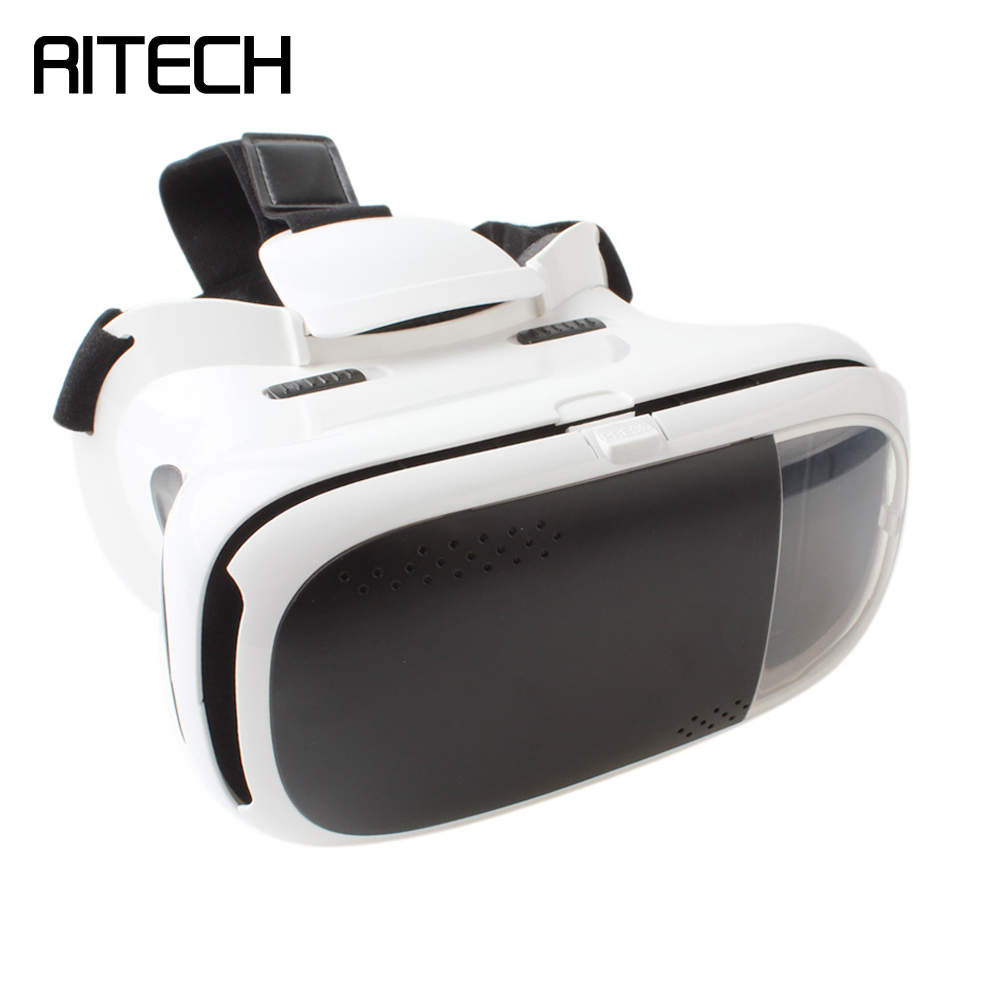 RITECH II VR 3D Glasses Virtual Reality 3D Movies Version Google Cardboard Magnet VR IMAX 3D Glasses for 3.5-6 Inch Mobile Phone