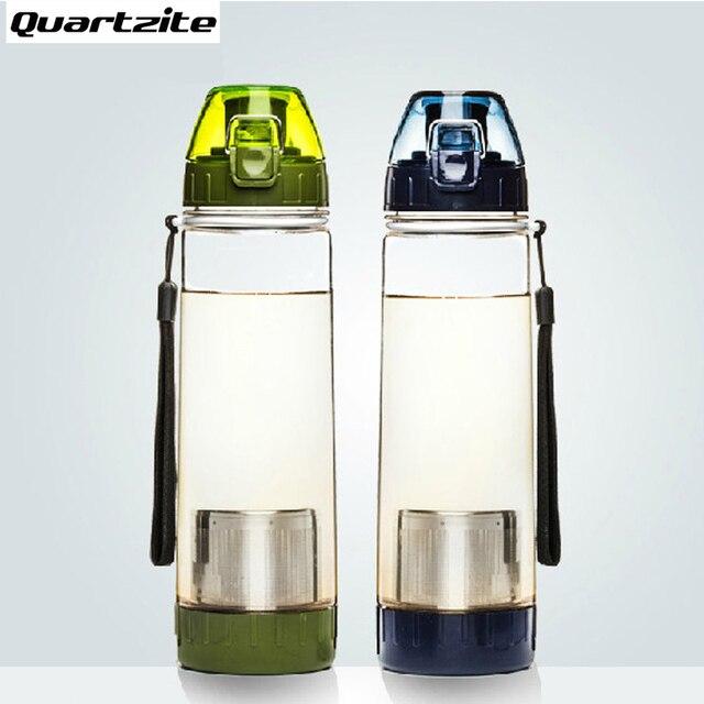 550 مللي أمبير جديد صحي السفر الشاي المحمولة الرياضة السفر زجاجة المياه مع مصفاة الفلتر زجاجات الشاي مانعة للتسرب 4 ألوان