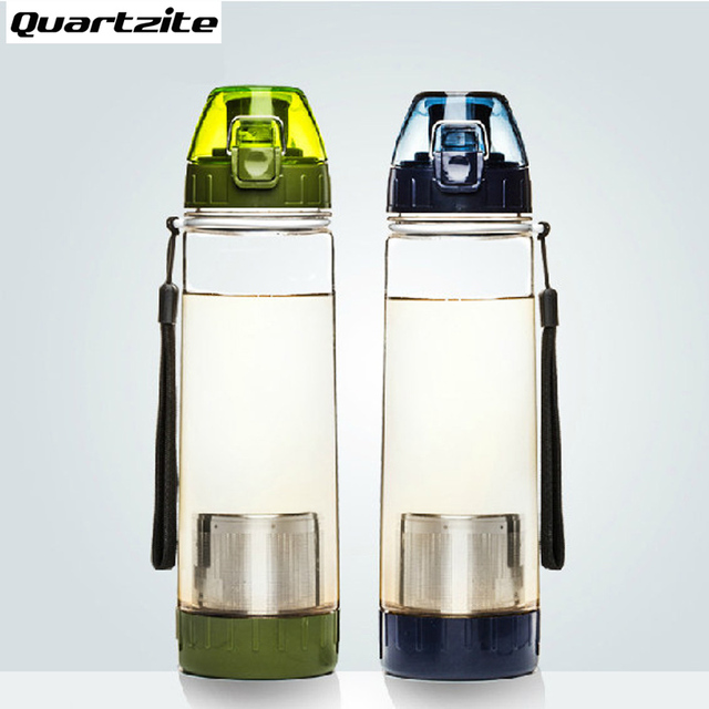 550ml NEW Healthy Travel Tea Portable Sport Travel Water Bottle With Filter Strainer Tea Seal Bottles 4 Colors