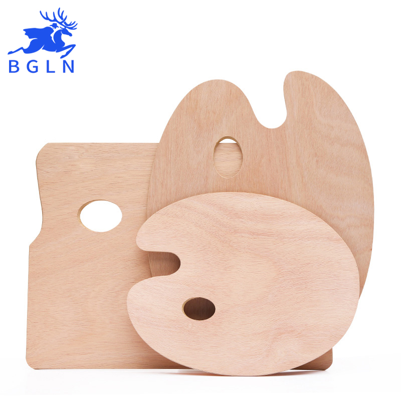 BGLN Wooden Oval and Square Oil Painting Palettes 1