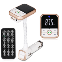 Bluetooth Car Kit MP3 Player Handsfree Wireless FM Transmitter Radio Adapter USB Charger With Remote Control