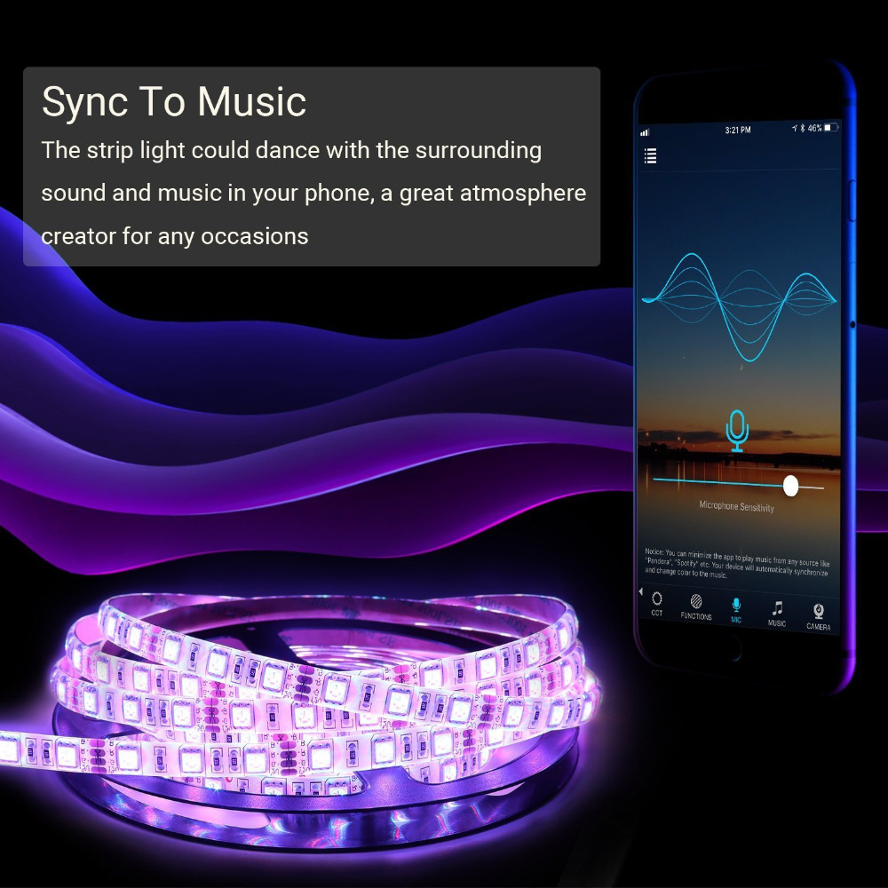 WIFI LED Strip lights, Smart Phone Remote Controlled Music