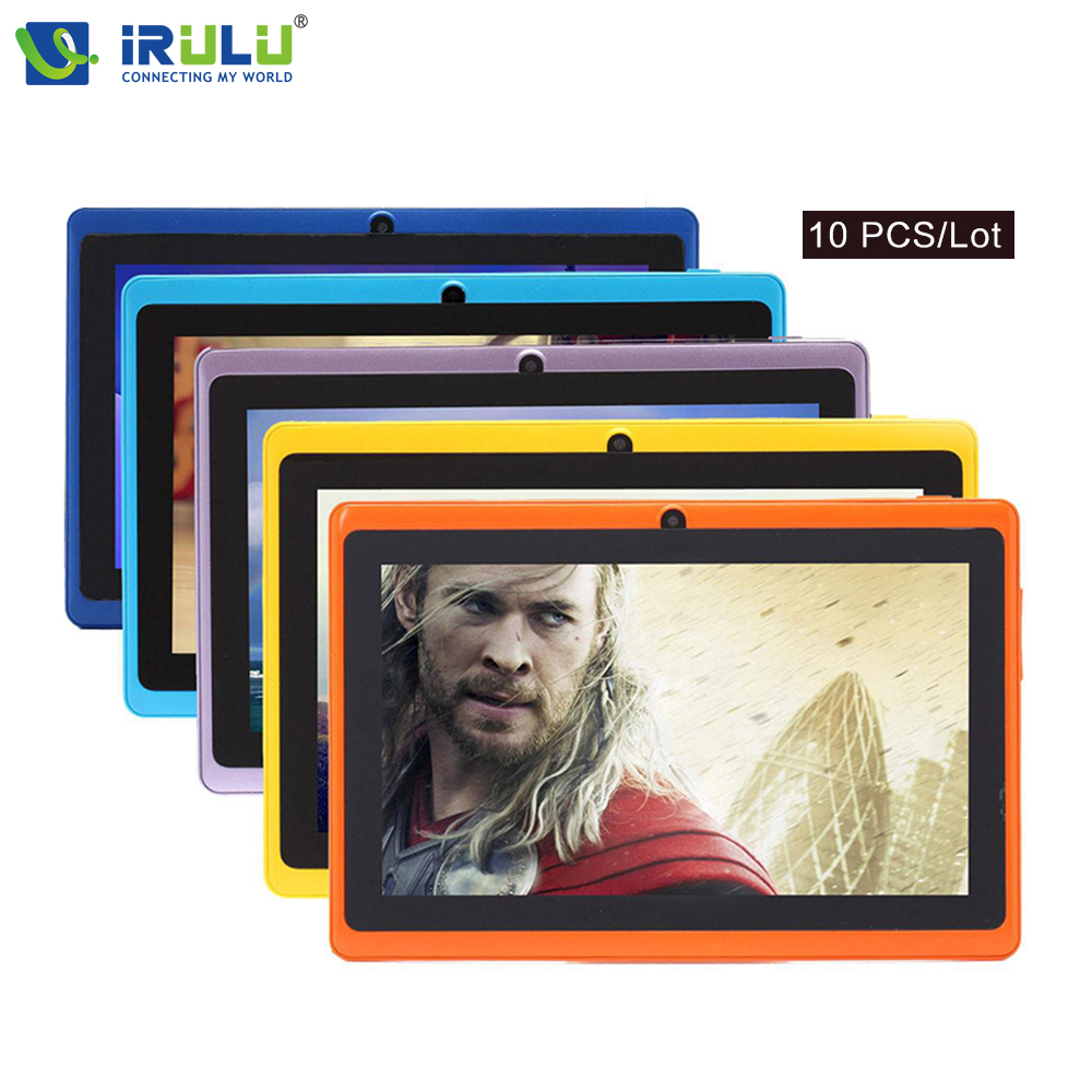 10 piece iRULU eXpro X1 7 Tablet PC Android 4.4 8GB ROM Tablet Quad Core Dual Cam 1024*600 Wifi Multi-Colors w/earphone Cheaper