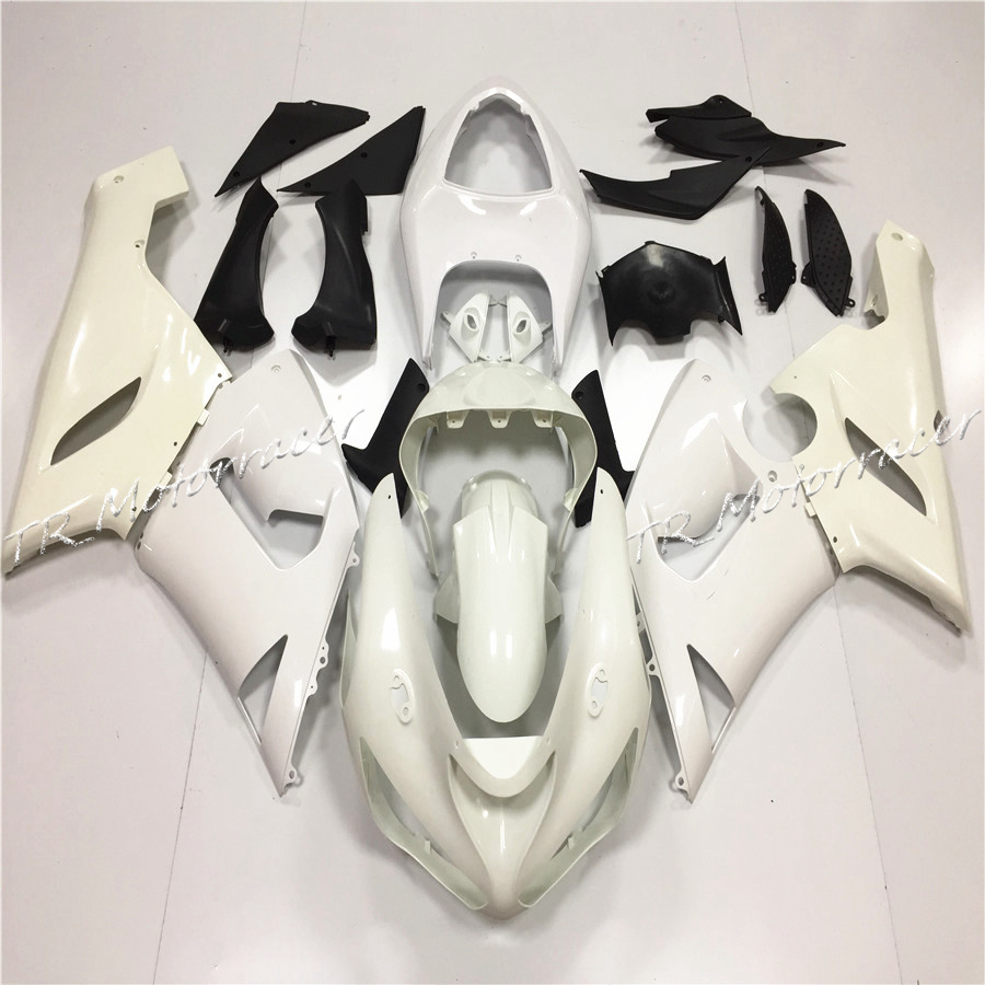 Motorcycle Unpainted White Fairing Bodywork Set For Kawasaki Ninja ZX6R 636 2005 2006 ZX-6R Accessories abs injection unpainted bodywork fairing for kawasaki ninja zx6r 636 2000 2001 2002 for zzr600 2005 2006 2007 2008