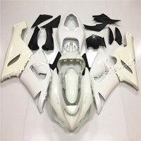 Motorcycle Unpainted White Fairing Bodywork Set For Kawasaki Ninja ZX6R 636 2005 2006 ZX 6R Accessories