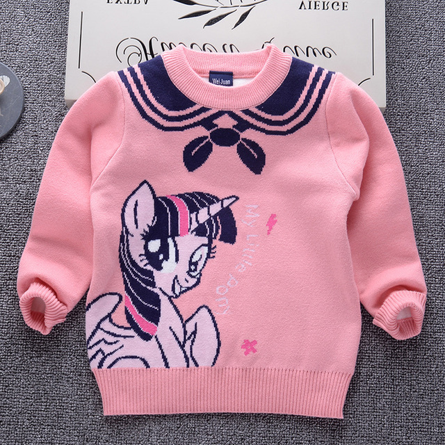e2177bab3 Girls pullover 2018 Brand Design Double Knit Padded Sweater for Baby ...
