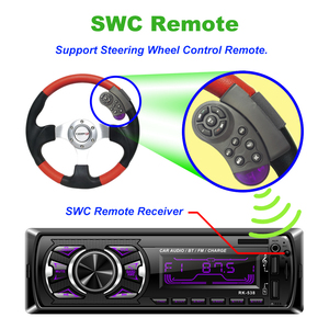 Image 3 - Hikity 1 din Car radio 12V Bluetooth AUX autoradio fm transmitter auto radio In Dash 1din with free remote control car Stereo