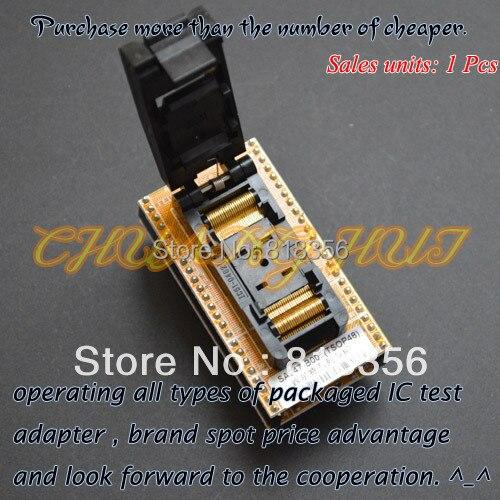 IC TEST TSOP48 to DIP48 Programmer Adapter Clamshell TSOP48 socket SA247B-005 Programmer Adapter