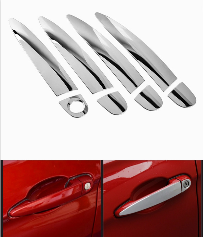 FUNDUOO For BMW 1 Series F21 F20 E81 E87 E82 3 Series F30 F35 F80 E92 E90 F31 E93 Stainless Steel Door Handle Cover Trim Sticker