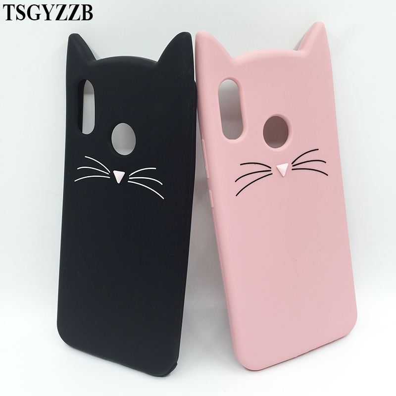 For Huawei P20 Lite Case Cover Soft Silicone Cute Cat Cover Back Protective Phone Case For Huawei P20 Lite P20lite 5.84 Coque
