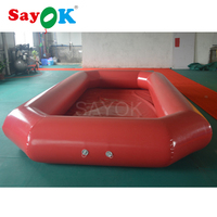 Customized 0.9mmPVC inflatable water pool ball/inflatable swimming pool/Inflatable red pool for sale