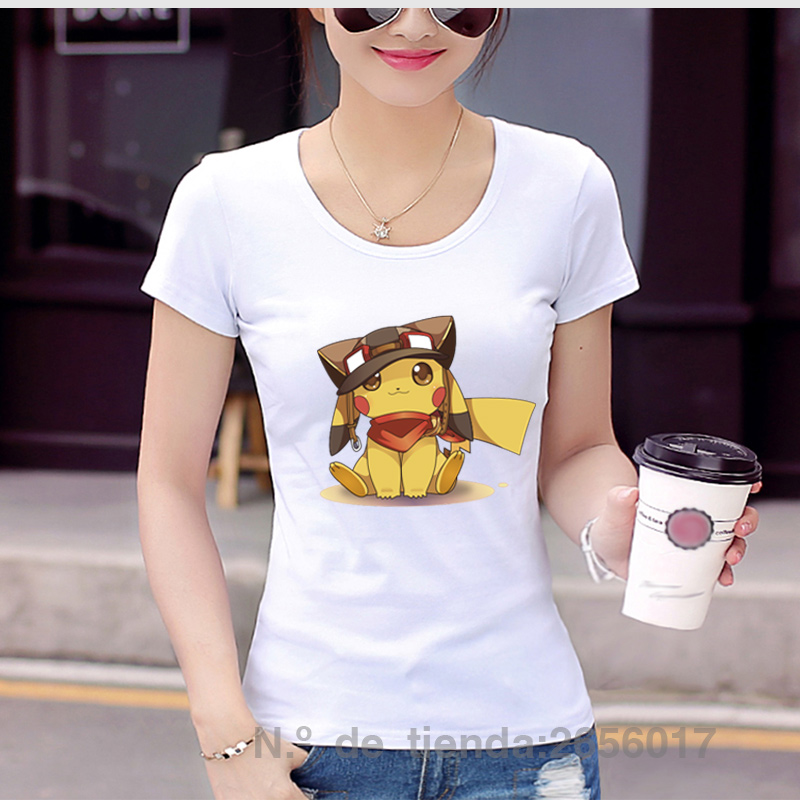New fashion 2017 summer japanese animation design pokemon pikachu font b anime b font printed t