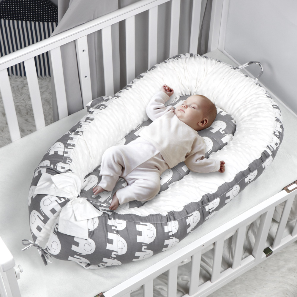 Travel Bed Cradle Bed-Crib Nest Newborn-Bumper Infant Baby Kids Children And For Cotton