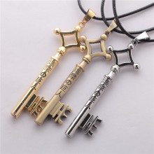 Attack On Titan Eren Key Necklace Metal Pendant Cosplay Jewelry Toy Anime Figure Shingeki No Kyojin