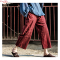 Brand Linen Ankle-Length Wide Leg Pants Women Plus Size Casual Loose Slacks Women Cool Vintage Trousers