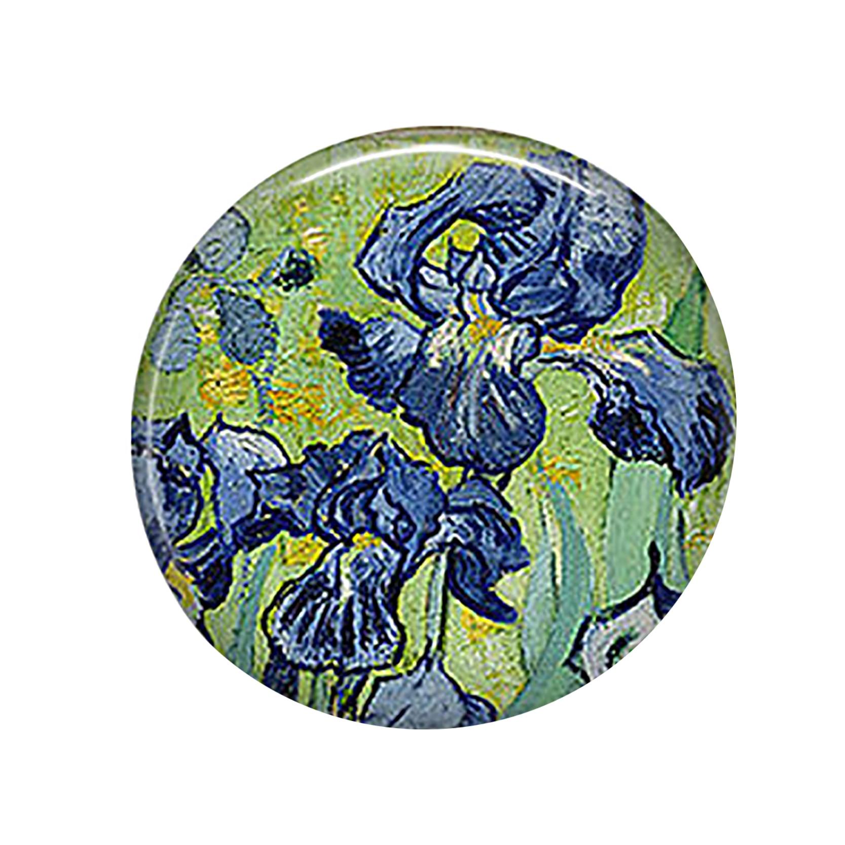 Van Gogh Irises Pendant Making 25mm Round Glass Cabochon Gemstone Jewelry Accessories заколки van gogh nadia wedding f226 page 1