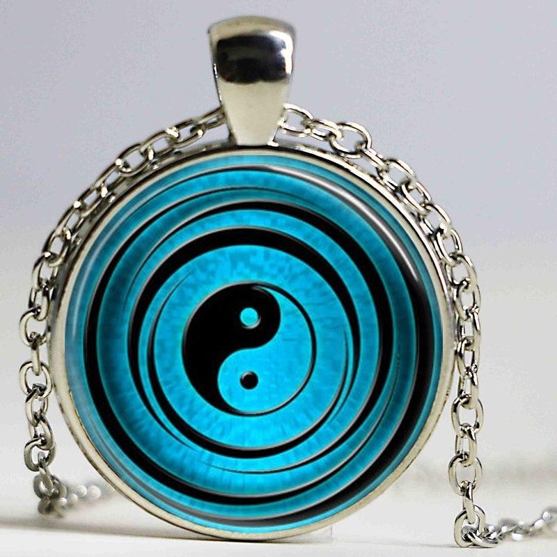 Yin Yang վզնոց Tai Ji կախազարդ սպիտակ սև - Նորաձև զարդեր - Լուսանկար 2