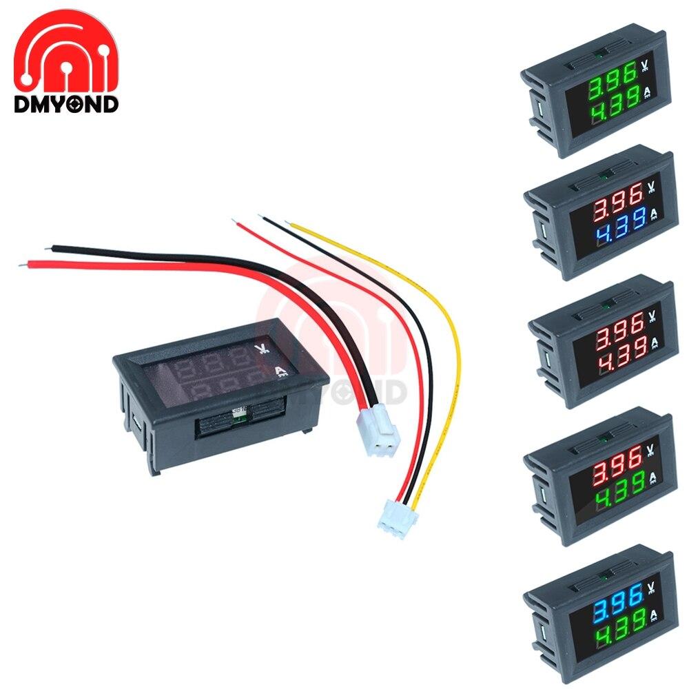DC 100V 10A Digital Mini Voltmeter Ammeter Panel Voltage Volt Current Meter Tester Green Green Dual LED Display Amp