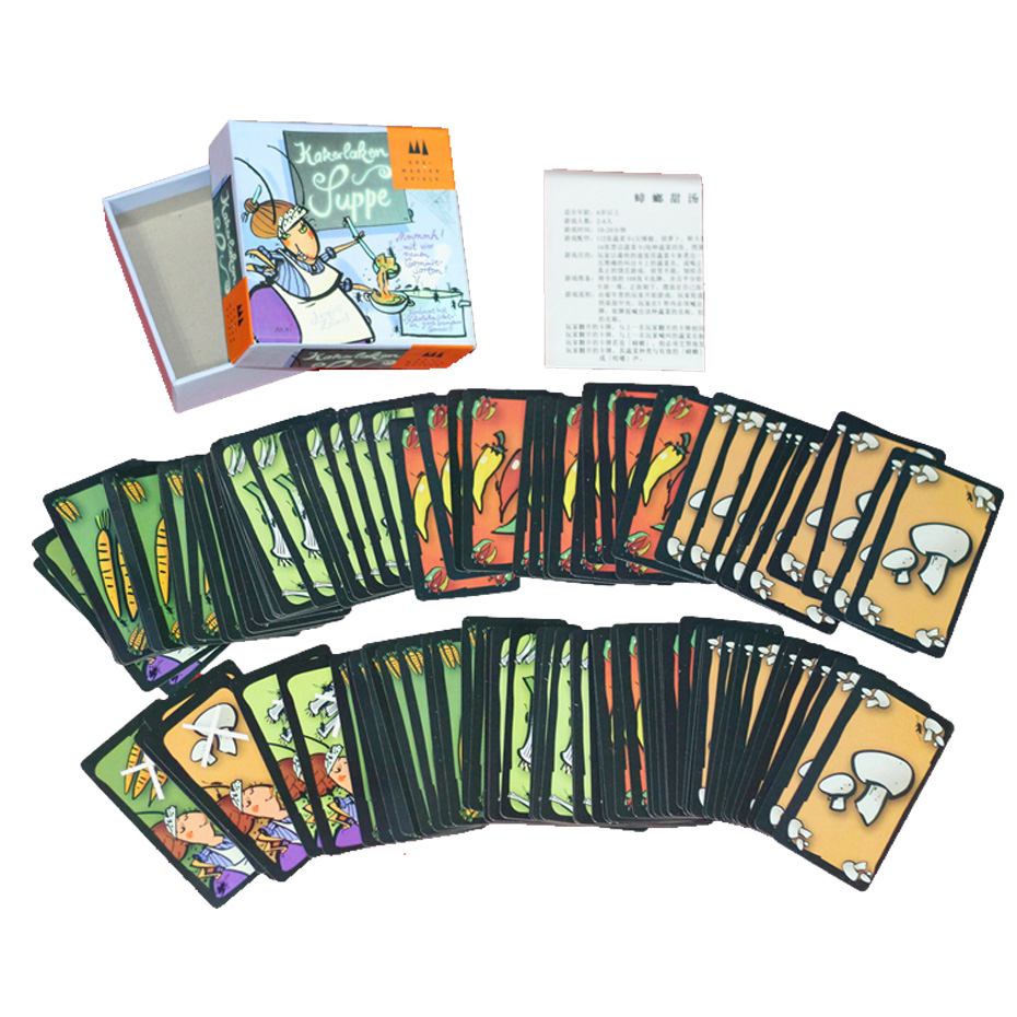 Funny Card Game Kakerlaken Suppe Board Game 2-6 Players to Play Family/Party/Friends Funny Party Game For Kids Game Fans ...