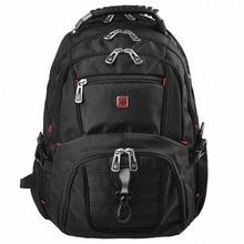 Famous Brand Swiss Men's Backpack military 15.6″ laptop bag men travel school bags for boys 04