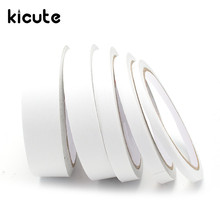 Kicute 5mm 9mm 12mm 18mm 24mm 12M White Double Sided Tape Faced Tape Adhesive 1 Roll Double Sided Adhesive Two Sided Tape