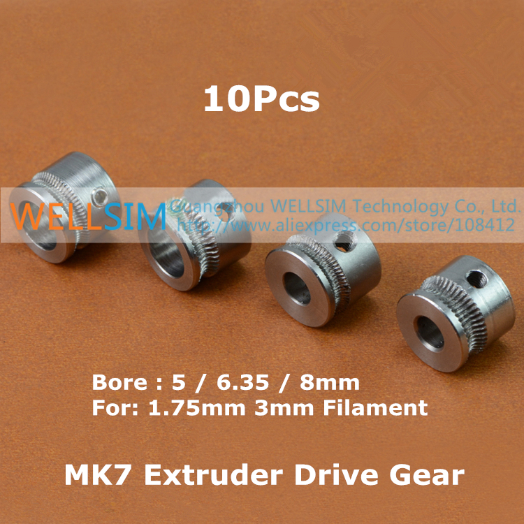 3d Printer MK7 Extruder for 1.75 mm filament Rep Rap Mendel