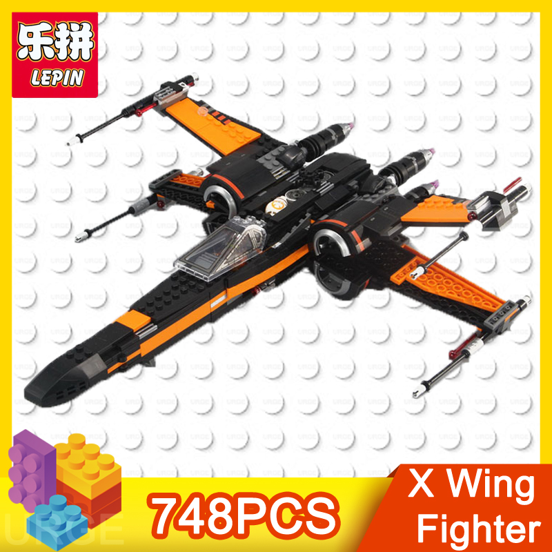 lepin star series wars action figure X Wing Fighter 748pcs bricks educational building blocks toys for children Christmas gift wisehawk nano star wars yoda building blocks big size characters figure educational toys diy assembly micro brick christmas gift