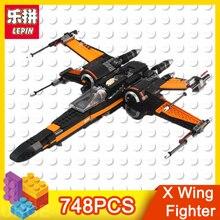 Lepin série star wars action figure X Aile Combattant 748 pcs briques blocs de construction éducatifs jouets pour enfants cadeau De Noël