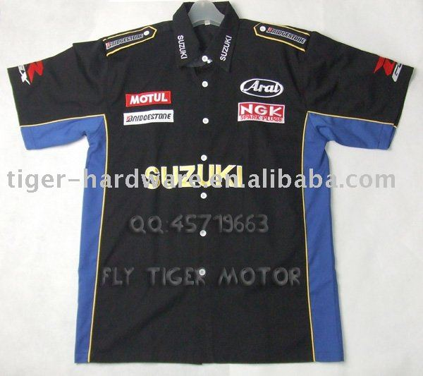 Pit Crew Shirts >> Suzuki Motorcycle Superbike Biker Pit Crew Shirt Racing Team T Shirt