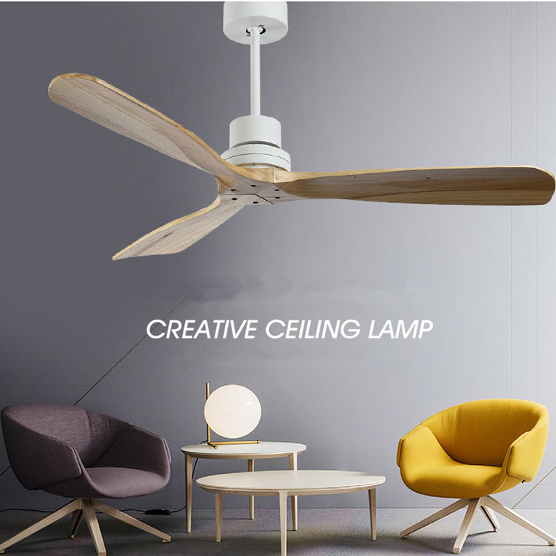 42/52 Inch Retro Loft Wooden Ceiling Fan Without Light Creative Bedroom Dining Room Wooden Ceiling Fans Free Shipping