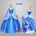 Платье, дамы взрослые женщин пузырь рукав светло-синий сисси средневековый золушка косплей принцесса костюм изображение вечернее / фестиваль