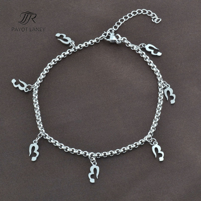 Stainless Steel women Anklet Chain with small pendant Foot Jewelry Ankle Bracelet on foot Anklet-11