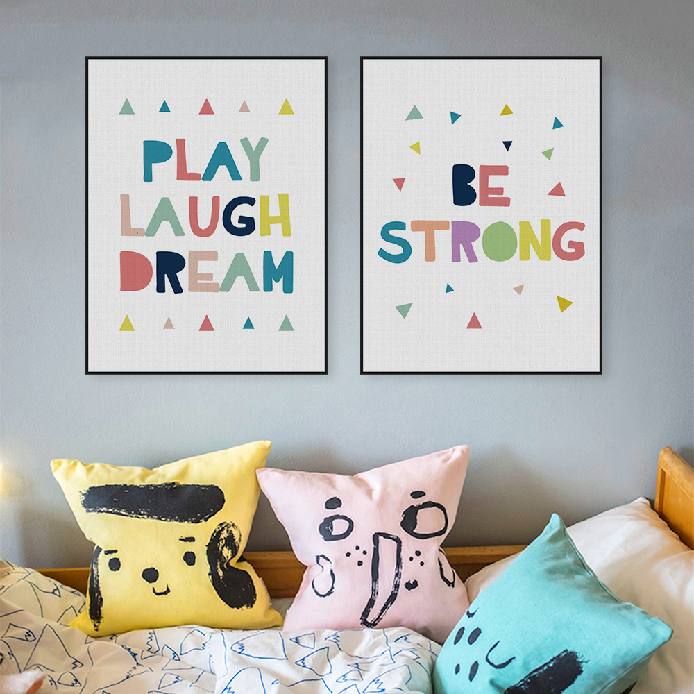 Buy modern minimalist motivation quotes canvas large art poster print kids room for Canvas prints childrens bedrooms