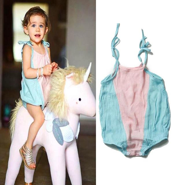 Qualidade da Roupa Do Bebê 2016 Do Bebê da menina Macacão crianças Roupas de verão recém-nascidos roupa da criança roupas das meninas para o verão infantil pano