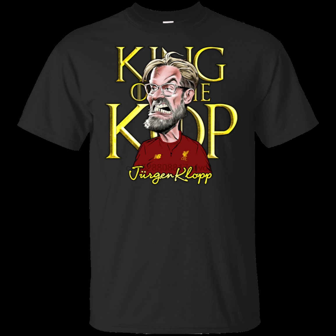 Red Klopp on The Kop T-Shirt
