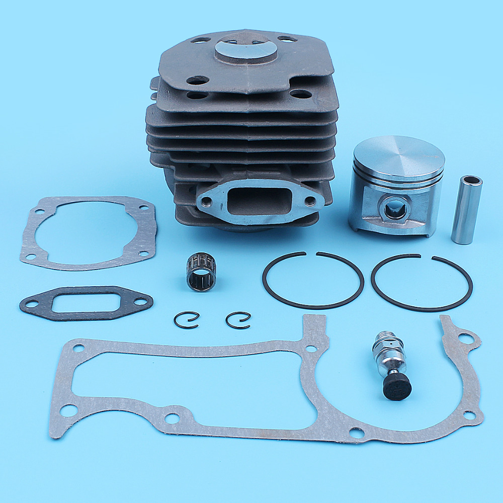 50mm Cylinder Piston Gasket Kit For Jonsered CS2165 CS2171 2063 2065 2071 Chainsaw Needle Bearing Outlet Valve Replacement Part