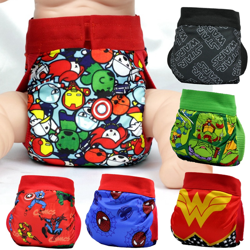 FREE SHIPPING 2017 superhero gladbaby diaper  costume super power cloth diaper nappies Adjustable washable