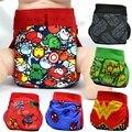 FREE SHIPPING 2017 superhero gladbaby diaper costume super power cloth diaper nappies Adjustable washable