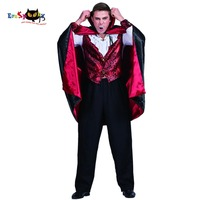 Men Vampire Count Dracula Gothic Costume Carnival Party Adult Male Cosplay Outfits Clothing Scary Devil Halloween Costumes