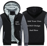Customize Clothes High Quality Hoodie Plain LOGO DIY Sweatshirt Customized Pattern Print Design Men Women Thicken