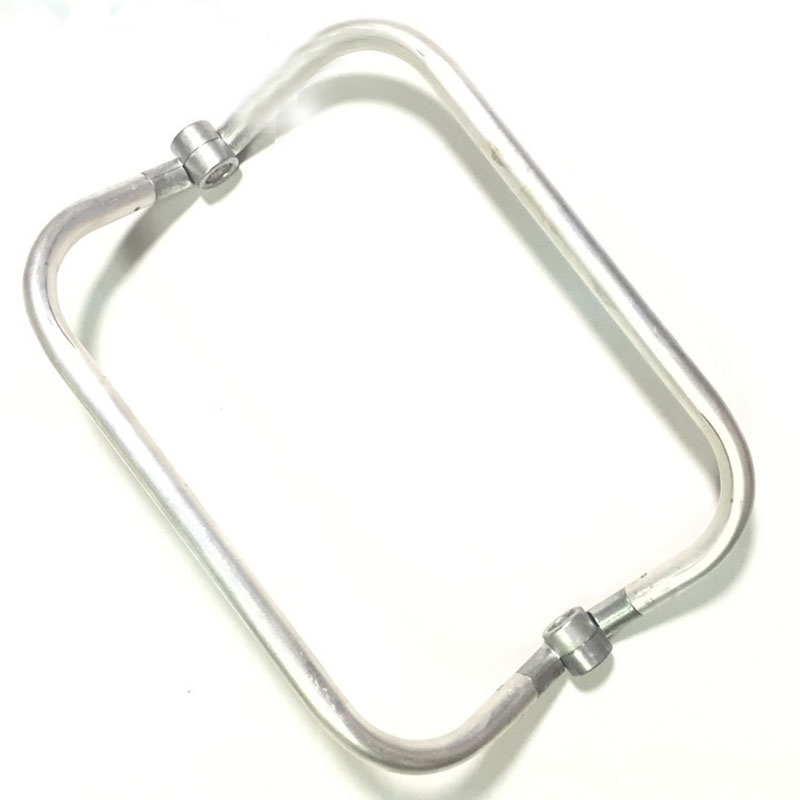 Aluminum Alloy Rectangle Tubular Internal Purse Frames Hinge 6 Inch 8 Inch 10 Inch